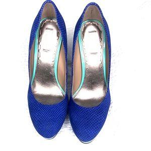 Rachel Roy Kamaria blue heel